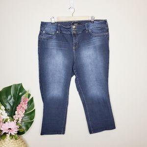 Torrid Dark Wash Capri/Crop Jeans